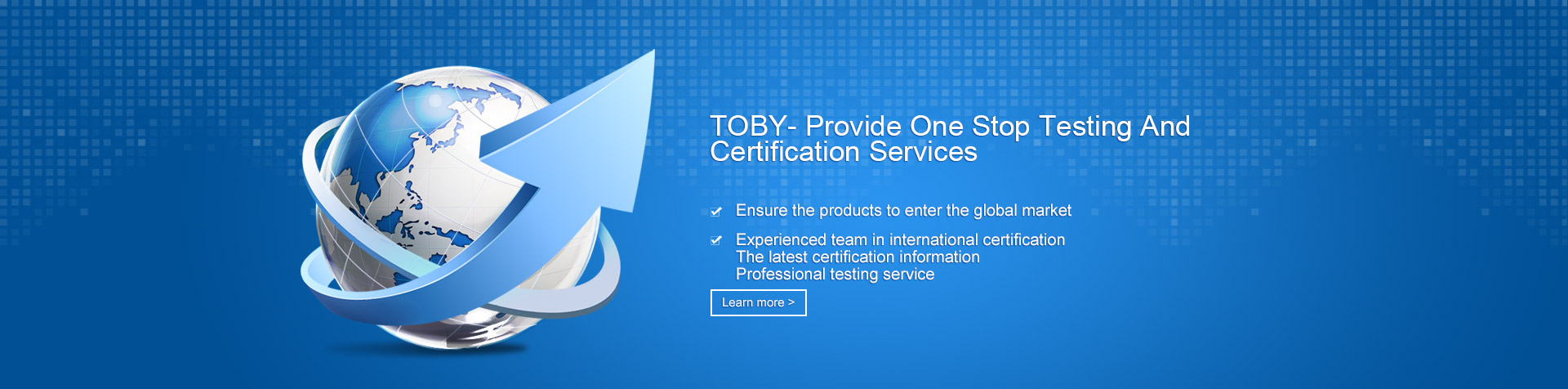 TOBY-stop testing and certific
